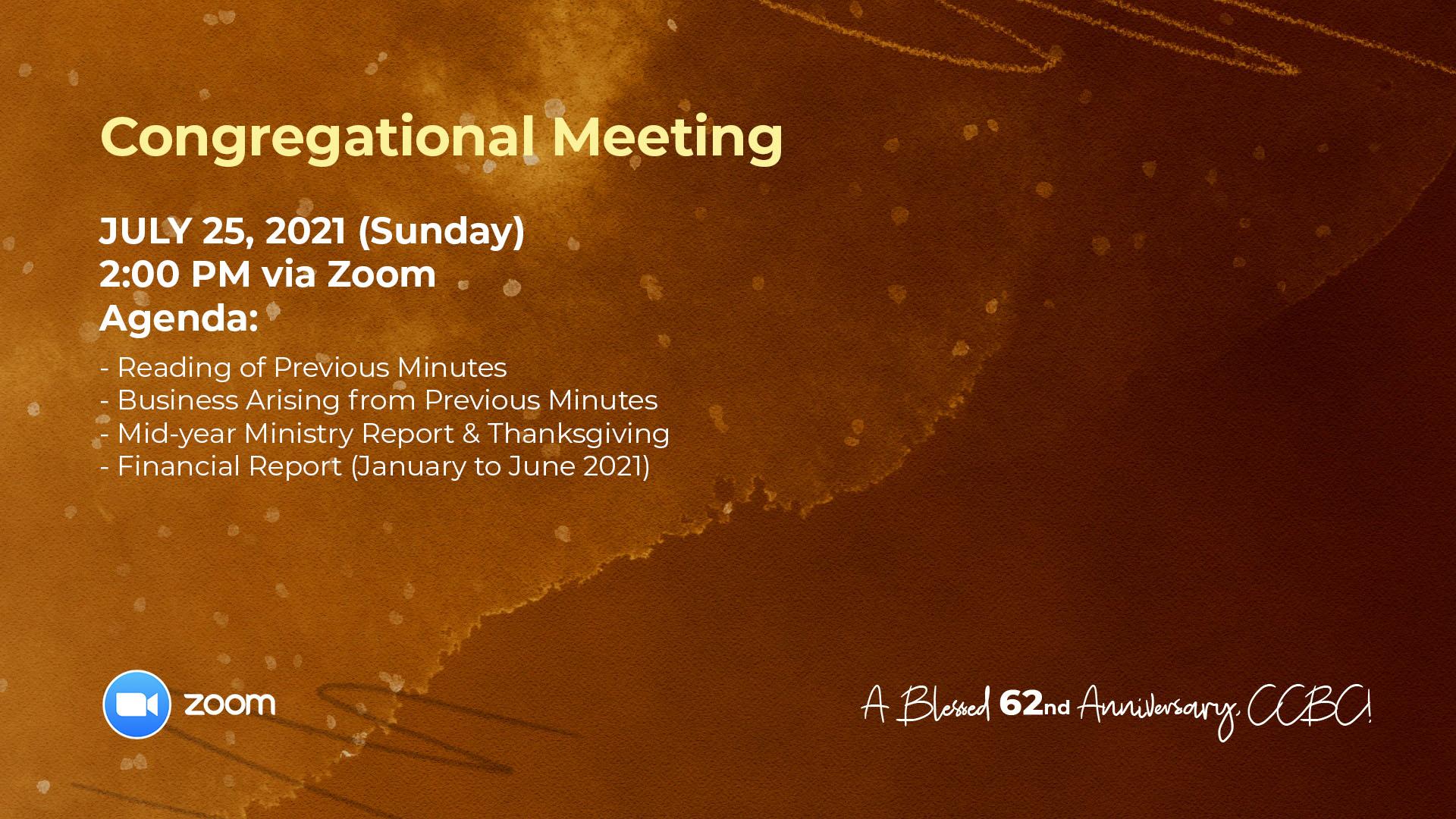 Congregational Meeting - July 2021 Promo copy